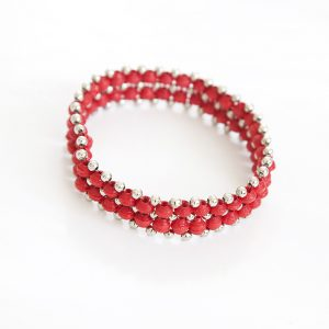 Lekkert mansjett armbånd - Rødt